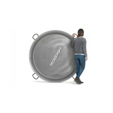 GIANT POLISHED STEEL PAELLA PAN